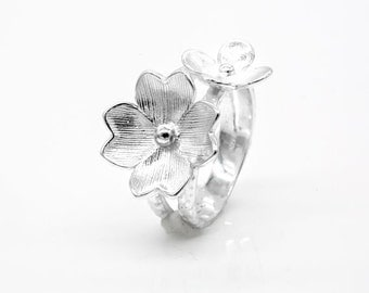 Flower of the Field Sterling Silver Ring