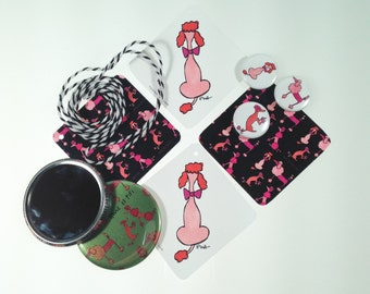 Hand Illustrated Gift Tags POODLES