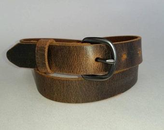 """1""""  Water  Buffalo  Full Grain Leather Belt"""