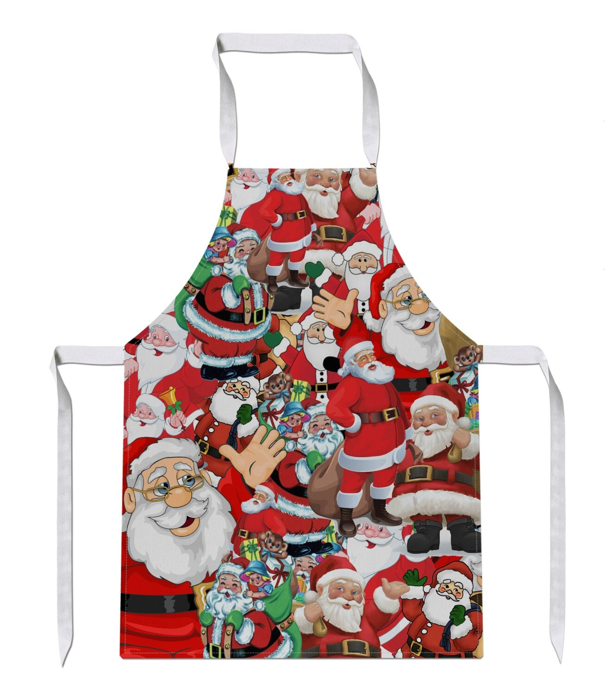 Santa christmas all over luxury novelty funny apron gift