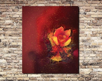 Floral Abstract - Canvas Print - Wall Art