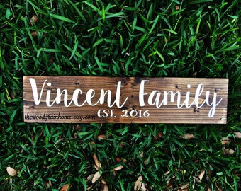 Personalized Family Name Sign | Family Established Sign | Last Name Sign | Established Name Signs | Custom Name signs | wedding gifts