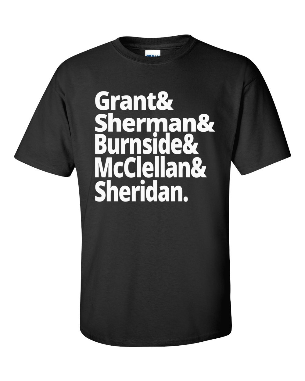US Civil War - Union Army Generals - Grant, Sherman, Burnside, McClellan, Sheridan - US Civil War History T-shirt