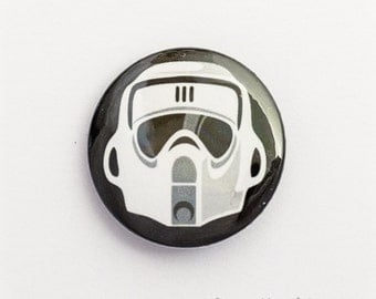 Star Wars Biker Scout / Scout Trooper, 25mm metal pin