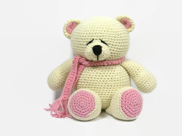Crochet teddy bear-amigurumi forever friends by Hippehaakselss