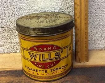 Wills tobacco tin vintage