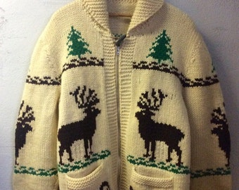 Vintage curling,hunting,chilling sweater