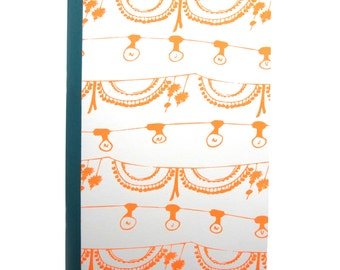 Screen printed Fairylights Notebook