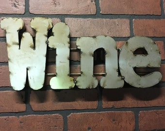 Tin Wine Sign - FREE SHIPPING!