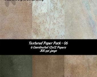 Digital Vintage Script 12x12 Decorated Textured Papers-Photography-Scrapbooking–Blog Backgrounds–Card making-DeeDoosDigital-INSTANT DOWNLOAD