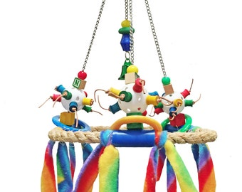 Small Merry Go Round swinging play station for small birds