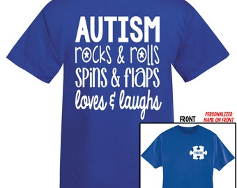 AUTISM Awareness Acceptance Personalized Shirt