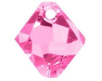 Swarovski Crystal Bicone Pendants 6301/6328 - 8mm- Rose - 10 pcs