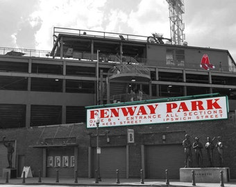 Fenway Park Sign- Boston, Massachusetts- Photography Prints
