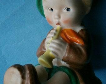 Goebel KF23 Boy with Horn Pretzel Holder made in Germany