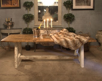 A Frame Rustic Wooden Dining Table Handmade Dining table