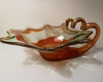 Blown Glass Art Bowl