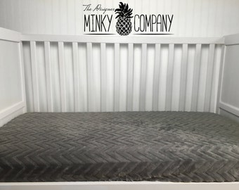 Minky Crib Sheet - Grey