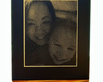 Large Personalized Halftone Art From Your Photograph - Custom Abstract Art - Dot Photo