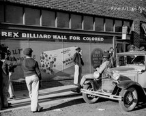 """Marion Post Wolcott Photo """"Rex Billiard Hall for Colored"""" 1939"""