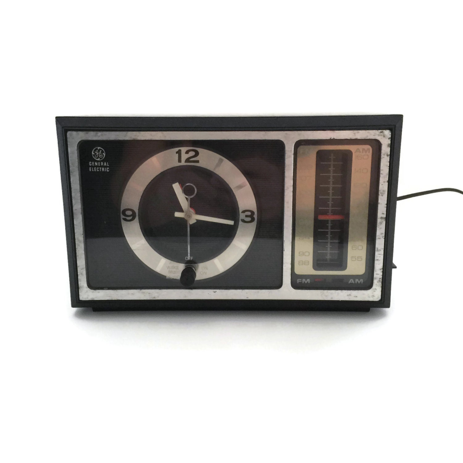 Retro Clock Radio Vintage Clock Radio GE Clock Radio FM/AM