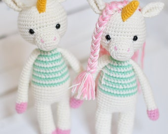Amigurumi unicorn plush, Unicorn crochet,Unicorn amigurumi,Stuffed unicorn toy,Kawaii unicorn stuffed animal,newborn props-holiday gift-OOAK