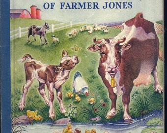Vintage 1940's Little Golden Book~The Animals of Farmer Jones