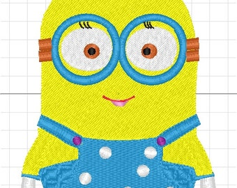 minions boy machine embroidery
