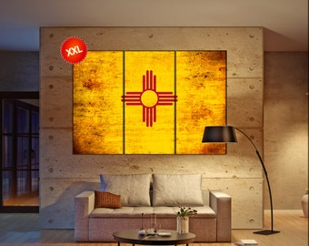 new mexico state flag canvas art print large wall art canvas print flag of the state of new mexico wall home decor interior office decor: new mexico home decor