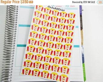 2 DOLLAR Sale 50 Popcorn Tub Stickers