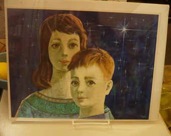 Starry Eyes Boy and Girl Print, by Pucci