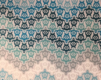 Shades Of Blue Turtle Chevron Adhesive Vinyl