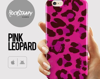 Leopard Print Phone Case, iPhone 6s, 7 case, Pink iPhone 6 Plus, S6 case, Samsung Galaxy S7 case, 5s, 5c, phone cover, pattern cover, animal