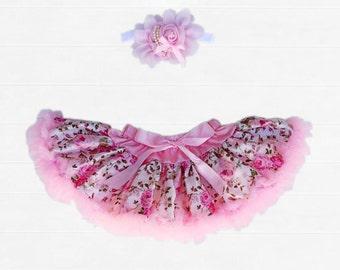 """Baby Girl Vintage Rose Tutu """"Frannie"""" Size 0000, 000, 00, 0 & 1"""