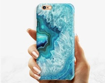 Blue Stone phone case iPhone SE 6 6s 6s+ 6Plus case iPhone SE 5 5s 5c 4 blue agate stone Samsung Galaxy S7 S6 S5 S4 blue gemstone phone case