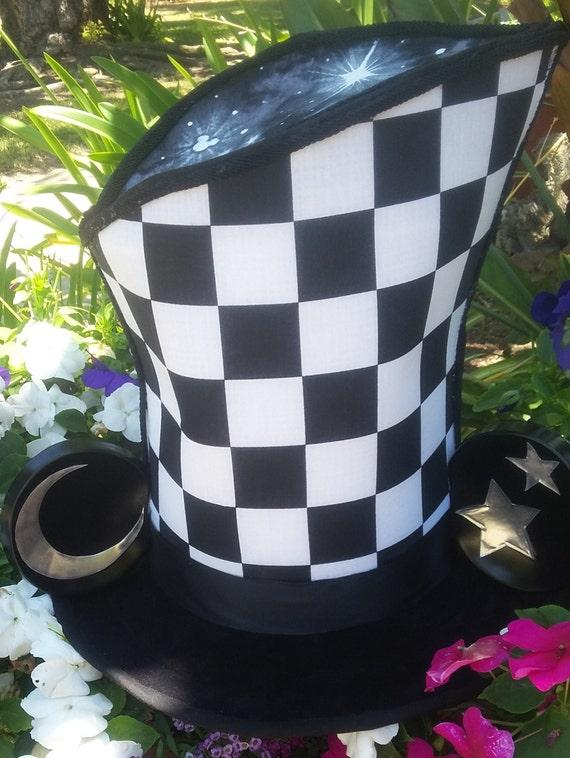 Mad Hatter Style B & W Wonderland