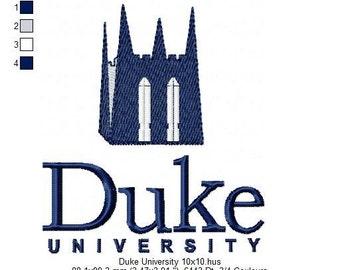Pattern for machine embroidery Duke University