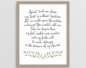 Where My Trust is without Borders Oceans Lyrics |  Christian Calligraphy laurels