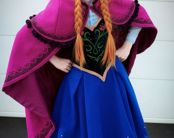 Full or Partial Deluxe Costume / Cosplay Anna Travel Outfit from the movie Frozen
