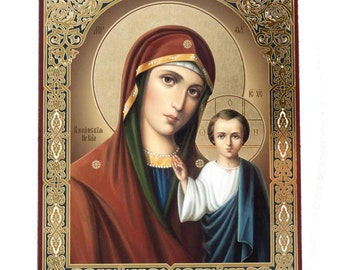 Our Lady Kazanskaya russian icon - #20bb