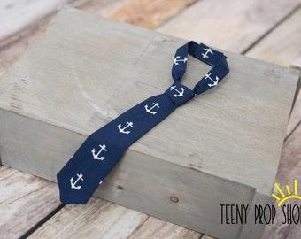 Baby Neck Tie, Anchor Neck Tie, Baby Boy Clothing, Baby Boy Cake Smash, Sailor Neck Tie, Child Tie, Baby Tie, Prop, Child Tie, Boat tie