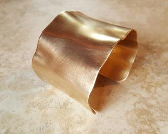 Wide cuff bracelet  / brass cuff / African inspired bracelet