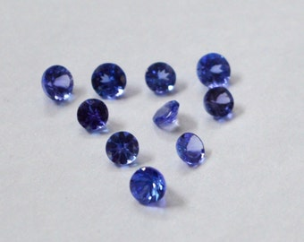 AA quality lot of 25 pic.Blue Tanzanite round cut faceted loose gemstone with free shipping