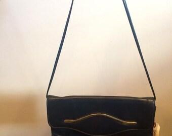 Dark Navy Leather Purse