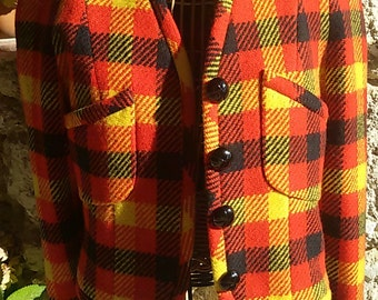 French 80 s /Veste size 42/Tartan jacket/jacket 80s Scottish