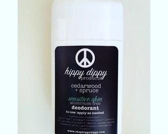 organic sensitive skin deodorant: baking soda free