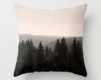 Sepia Ombre Pillow Cover | Tree Pillow Cover | Brown Pillow Covers | Photography Pillow Cover | Nature Home Decor | Living Room Pillow Cover