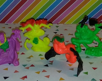 Vintage Lot of 4 1990s Matchbox Mini Monster in My Pocket Figures, Series 2 (#7)