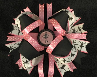"""Ballerina 6"""" Layered Boutique Bow, Big Boutique Hair Bow, Large Boutique Hair Bow"""