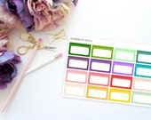 Bright Appointment Half Boxes -- Matte Planner Stickers